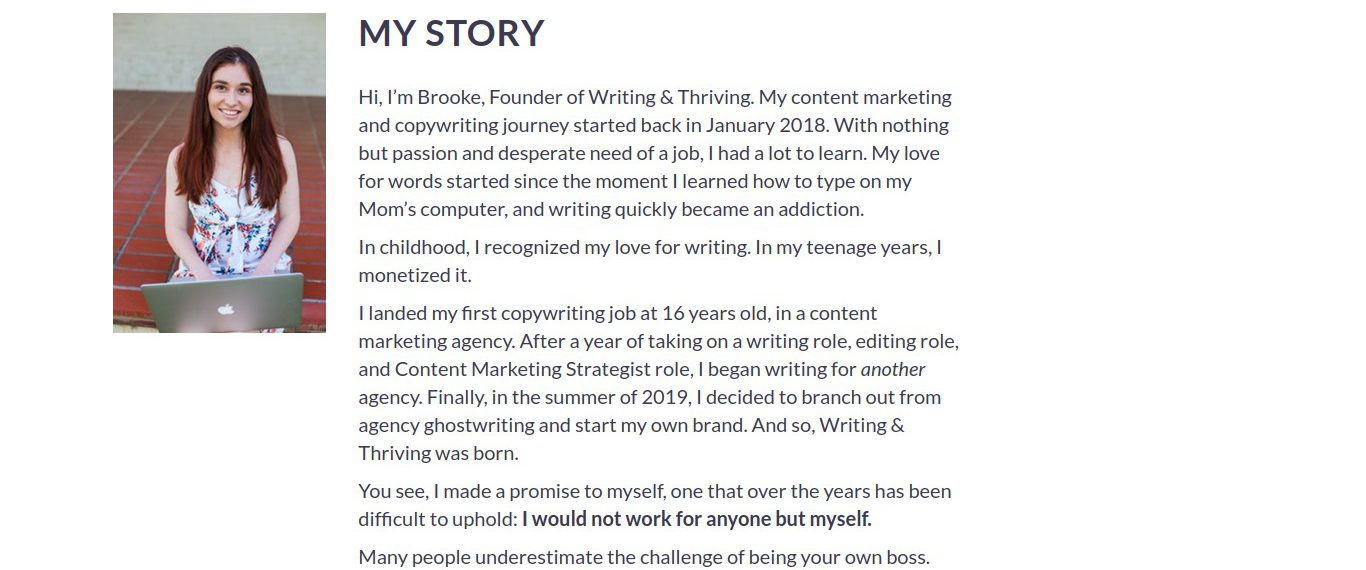 Brand Storytelling | Writing and Thriving