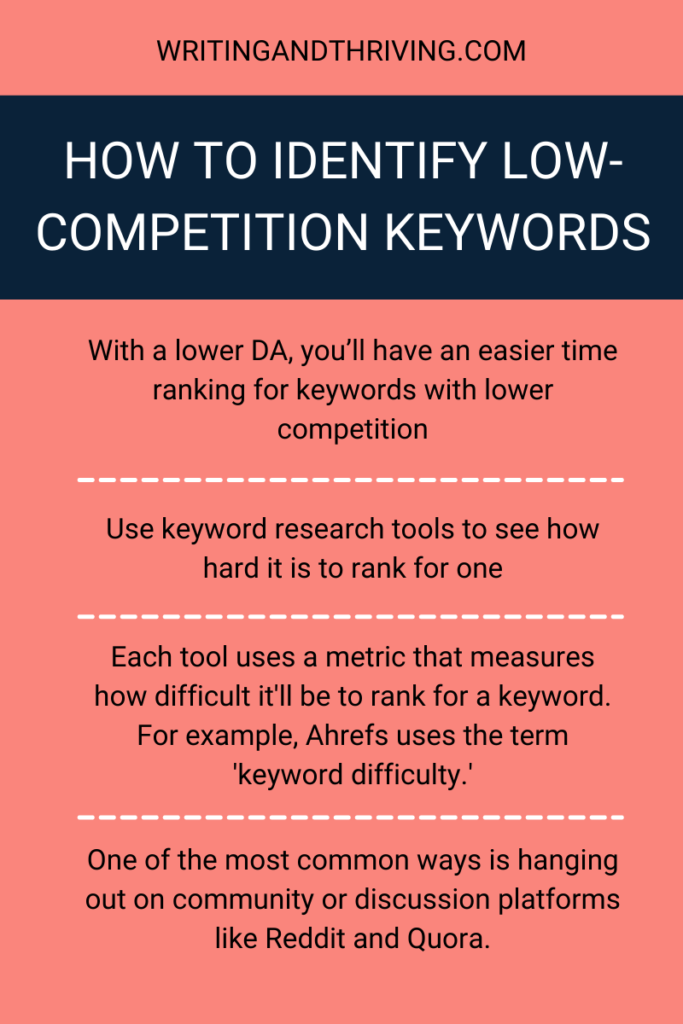 How to Find Low-Competition Keywords